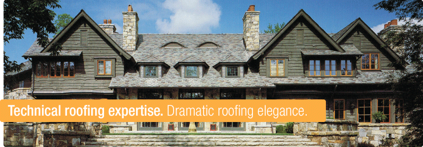 Technical roofing expertise. Dramatic roofing elegance.